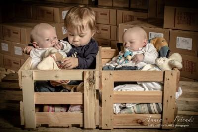 Baby Shooting mit Zwillingen und Schwesterchen